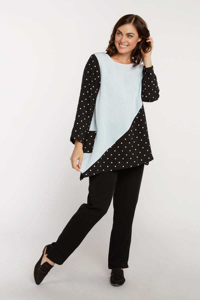 AA232 - Reversible Polka Dot Tunic