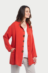 AA288 - Celine Big Button Blouse