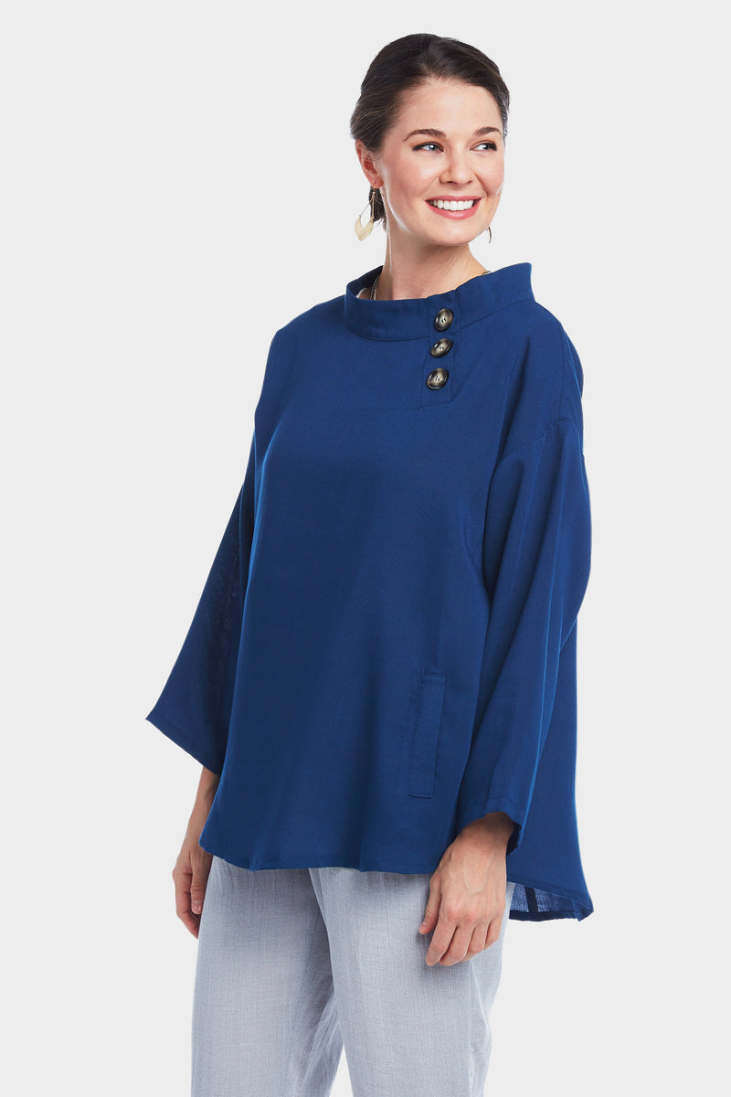 AA294 - Mallory 3-Button Pullover