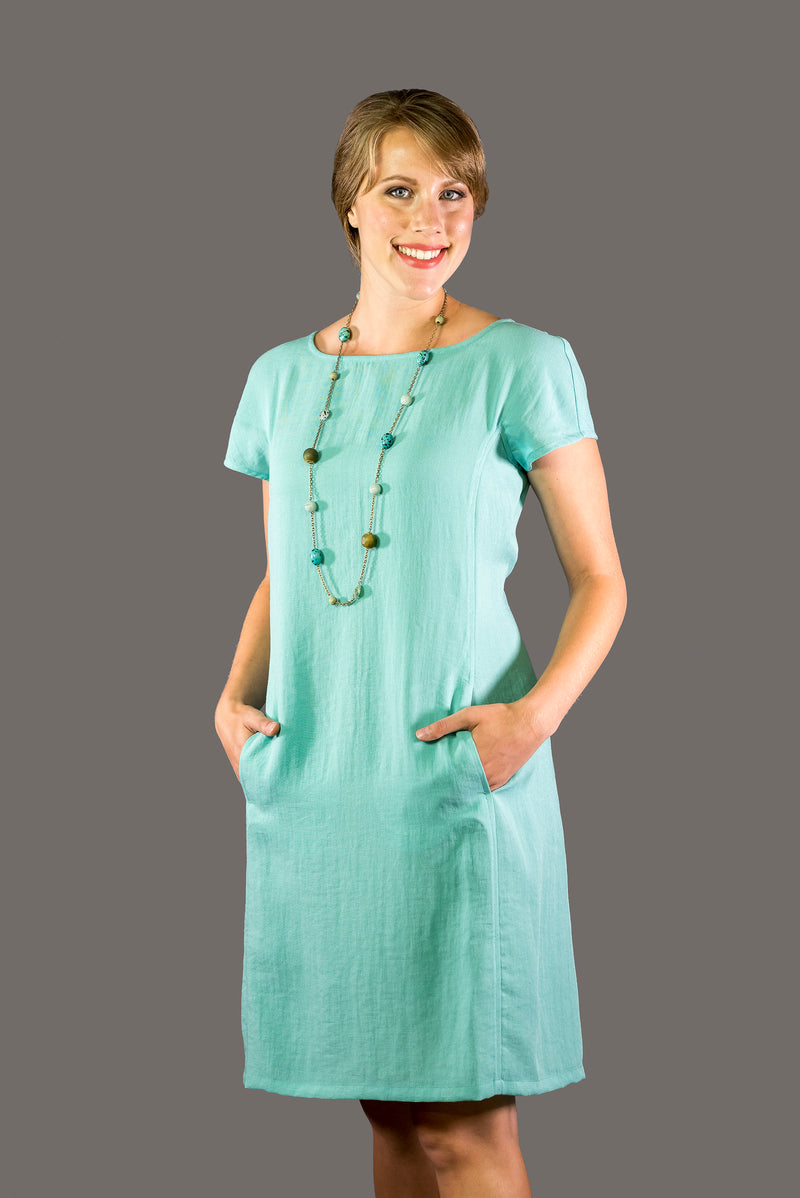 AAD199 - Cap-Sleeve Dress
