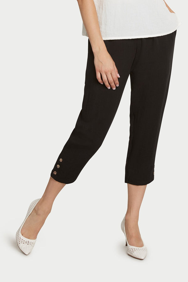 AAPT15 - Crop Pant with Button Details