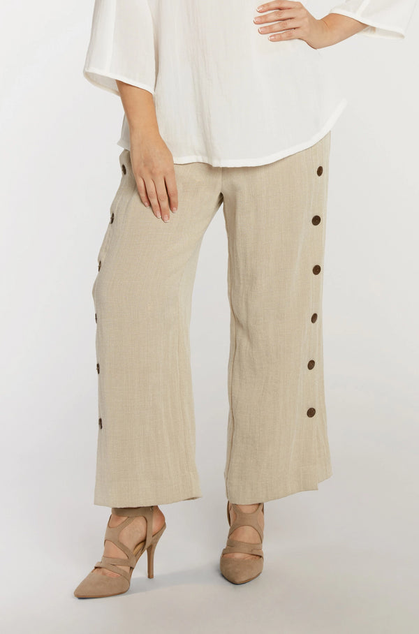 AAPT20 - Coconut Button Ankle Pant