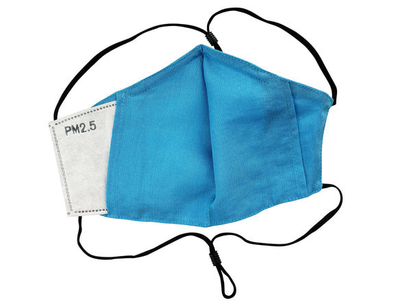 Adults - Fridaze 100% Linen All Day Work Masks incl. one PM 2.5 Filter - Caribbean