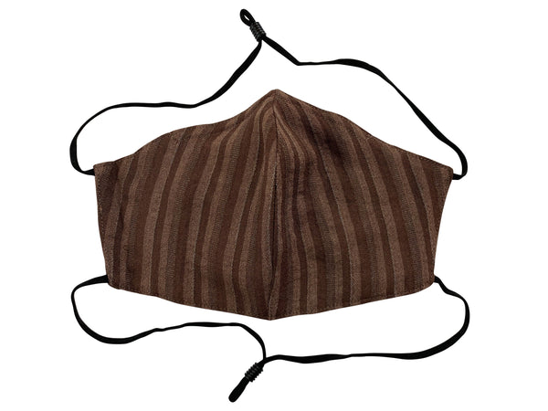 Adults - Fridaze 100% Linen All Day Work Masks incl. one PM 2.5 Filter - Chocolate Stripes