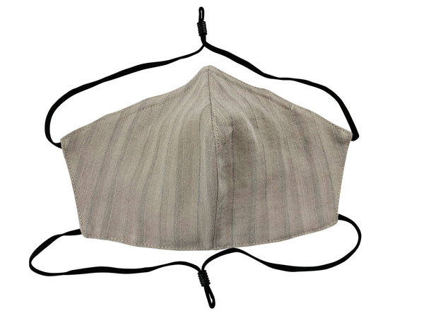 Adults - Fridaze 100% Linen All Day Work Masks incl. one PM 2.5 Filter - Dune Stripes