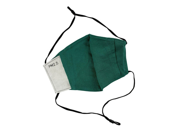 Adults - Fridaze 100% Linen All Day Work Masks incl. one PM 2.5 Filter - Evergreen