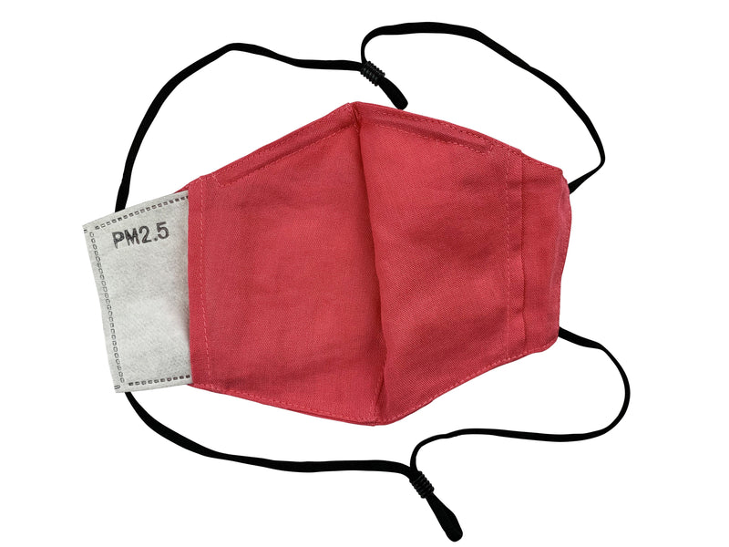 Adults - Fridaze 100% Linen All Day Work Masks incl. one PM 2.5 Filter - Passion Flower