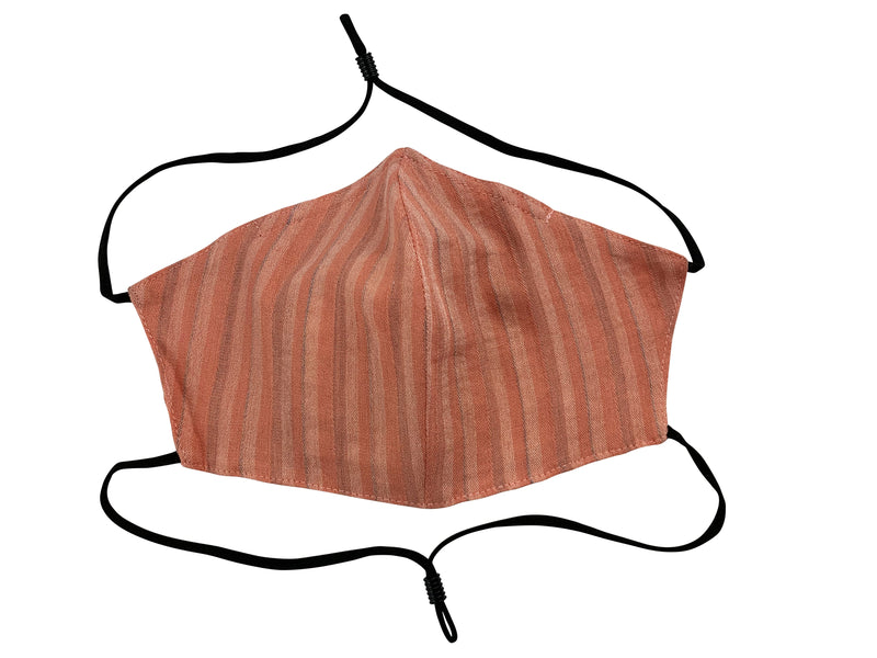 Adults - Fridaze 100% Linen All Day Work Masks incl. one PM 2.5 Filter - Spice Stripes