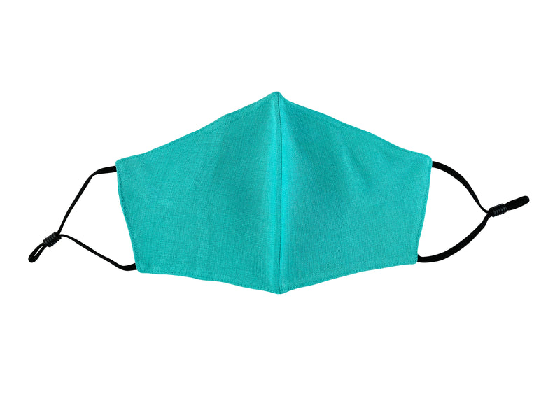 Adults - Fridaze 100% Linen Face Mask incl. one PM 2.5 Filter - Lagoon