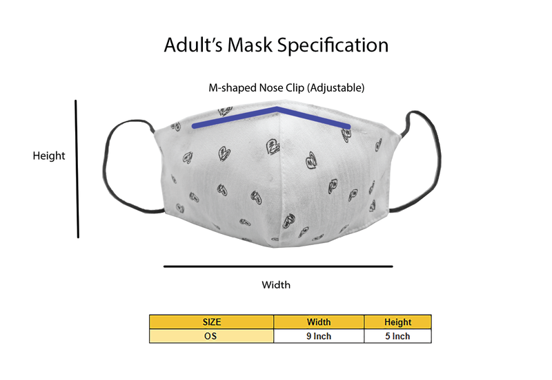 Adults - Fridaze 100% Linen Face Mask incl. one PM 2.5 Filter - Blu/Grn Dots