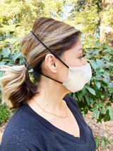 Adults - Fridaze 100% Linen All Day Work Masks incl. one PM 2.5 Filter - Sand