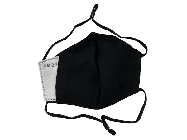 Children - Fridaze 100% Linen All Day School Masks incl. one PM 2.5 Filter - Black