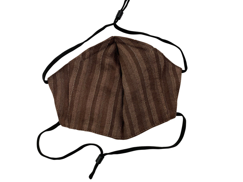 Children - Fridaze 100% Linen All Day School Masks incl. one PM 2.5 Filter - Chocolate Stripes