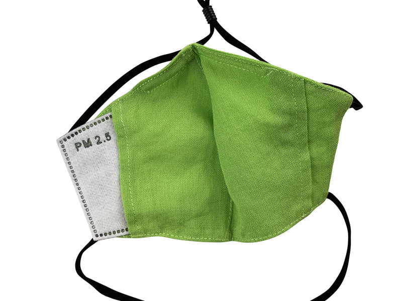 Children - Fridaze 100% Linen All Day School Masks incl. one PM 2.5 Filter - Kiwi