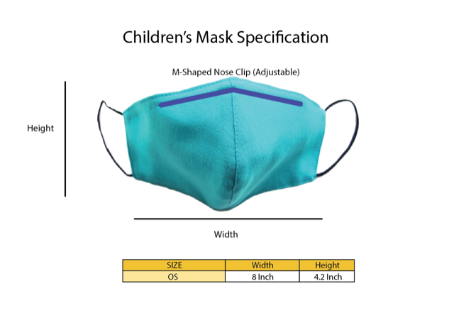 Children - Fridaze 100% Linen Face Mask incl. one PM 2.5 Filter - Caribbean