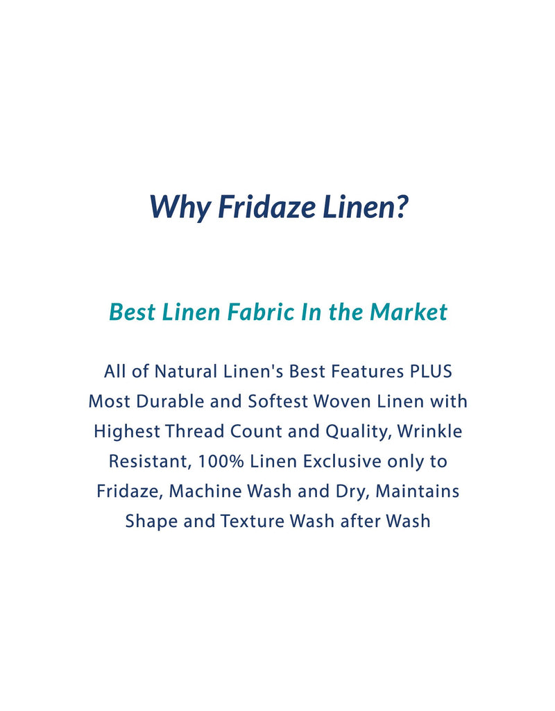 Adults - Fridaze 100% Linen Face Mask (No Filter Included) - White Rectangles