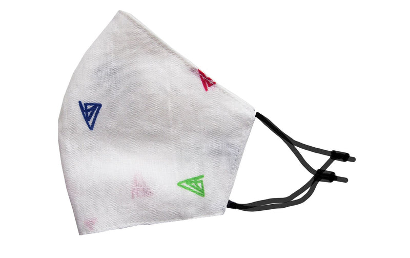 Adults - Fridaze 100% Linen Face Mask incl. one PM 2.5 Filter - Multi-Color Triangles