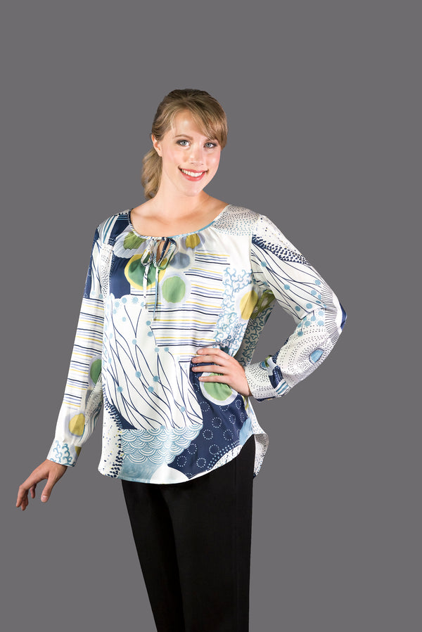 SF178 - Pullover Keyhole Blouse