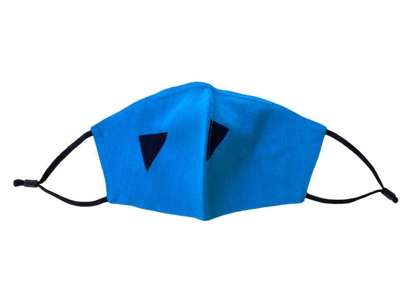Adults - Fridaze 100% Linen Face Mask (No Filter Included) - Bluebird Shapes