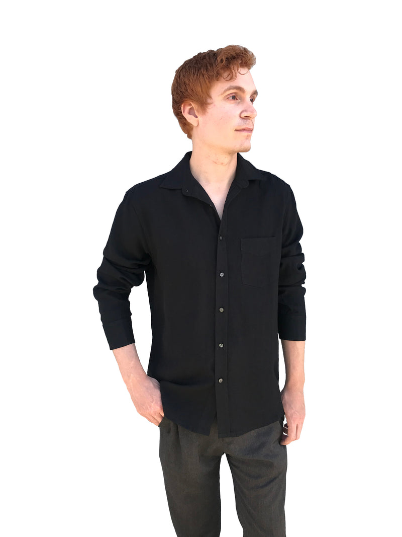 Fridaze Wrinkle-Resistant 100% Linen Men's Shirt, Regular Fit, Long Sleeve - AA9202