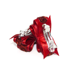 Red Sparklers Canine Clips