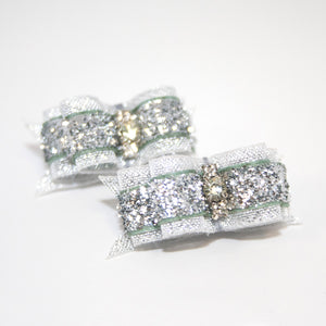 Silver Sparklers Canine Clips