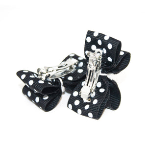 Black Mini Polka Dot Canine Clips