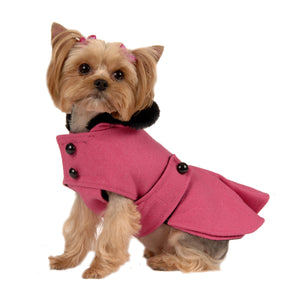 Hot Pink Pleated Coat