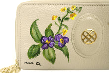 Load image into Gallery viewer, Beige Hand-painted Clutch Wallet