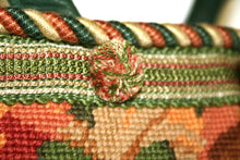 Load image into Gallery viewer, Green Needlepoint Tote Bag