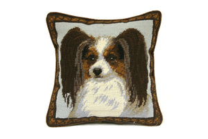 Brown Cocker Spaniel Needlepoint Pillow