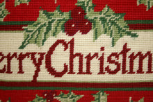 Load image into Gallery viewer, Red Christmas Needlepoint Pillow