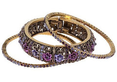 Antique Amethyst Bangle Set