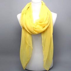 Canary Yellow Scarf - like Minka Kelly