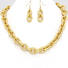 Chain Chain Chain Necklace and Earring Set - like Miley Cyrus, Rita Ora and Kim K