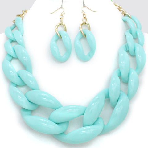 Chain Reaction Necklace and Earring Set
