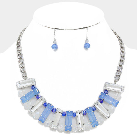 Ice Sculpture necklace and earring set