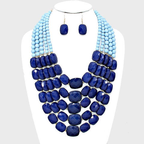 Blues By You necklace and earring set