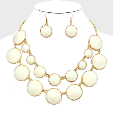 Palm Beach necklace and earring set