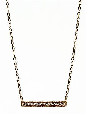Gold Bar Necklace - Sterling Silver