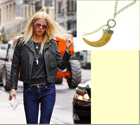 Tooth Charm Necklace - Like Michael Kors and seen on Gwyneth Paltrow