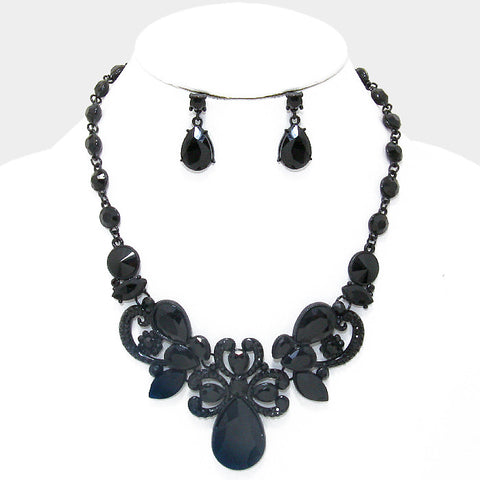 Midnight Romance Necklace and Earring Set