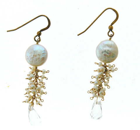 Pearl Diver Earrings - Genuine Pearls
