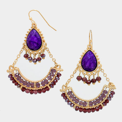 Purple Casbah earrings