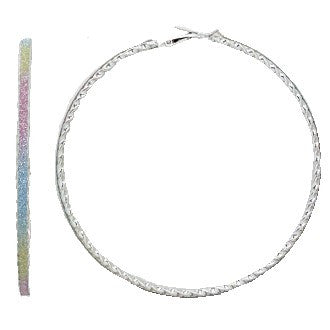 Sparkly Rainbow Hoop Earrings
