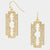 Razor Earrings in silver or gold - like Madonna