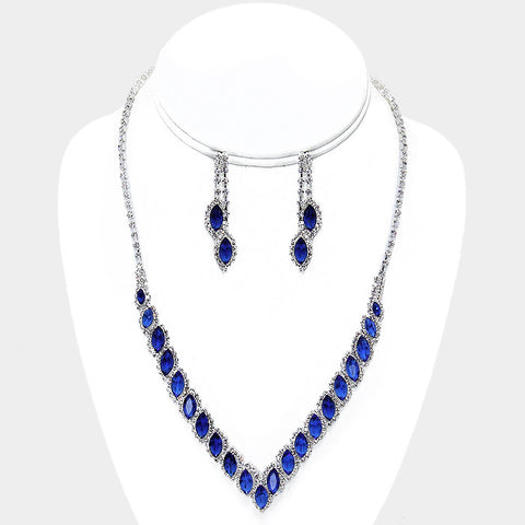 Royal-Vee Necklace and Earring Set