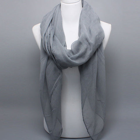 Gauzy Grey Scarf - like Allesandra Ambrosio and Jennifer Anniston