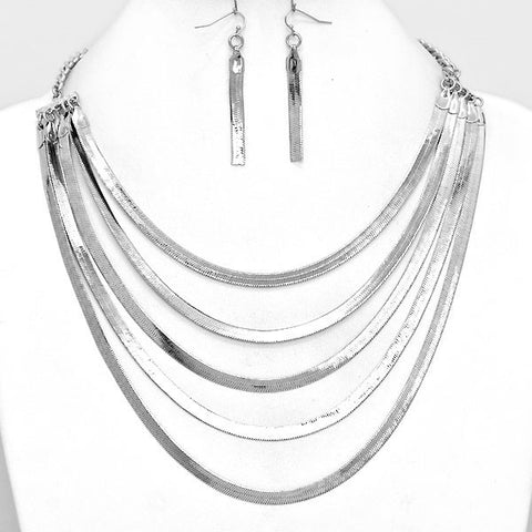 Silverado Strands Necklace and Earring Set