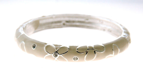 White Flower Bangle